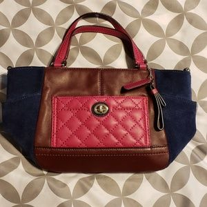 Coach leather quilted mini crossbody purse